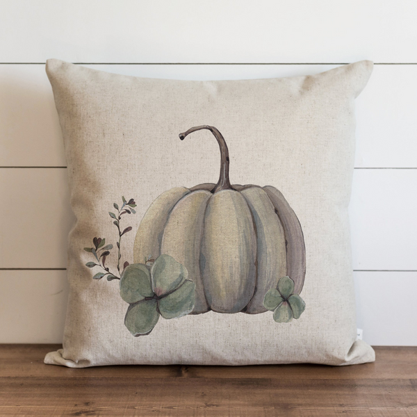 Watercolor Pumpkin Pillow Cover {Style 5}.