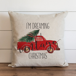 I'm Dreaming Of A Vintage Christmas_Truck Pillow Cover. - Porter Lane Home