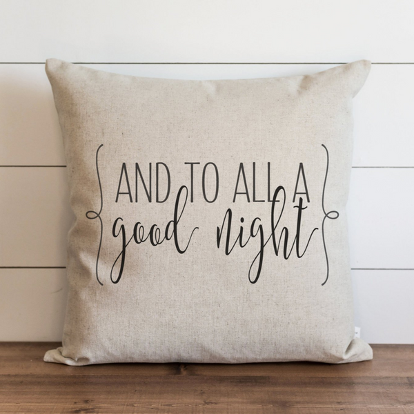 And To All A Good Night Pillow Cover. - Porter Lane Home