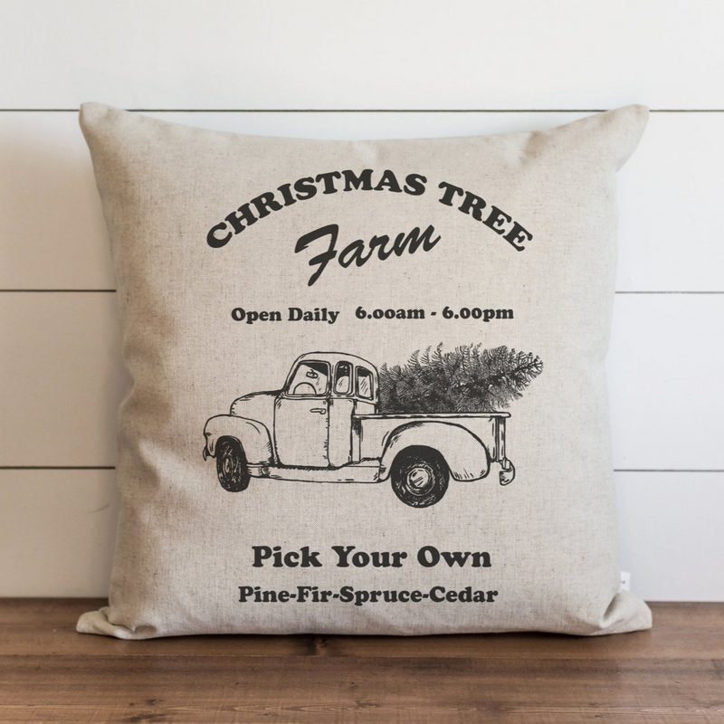 Christmas Tree Farm Pillow Cover. - Porter Lane Home