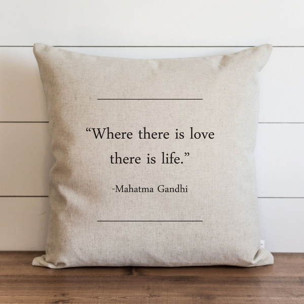 Book Collection_Mahatma Gandhi Pillow Cover. - Porter Lane Home
