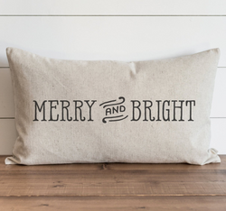 Merry and Bright Pillow Cover. - Porter Lane Home