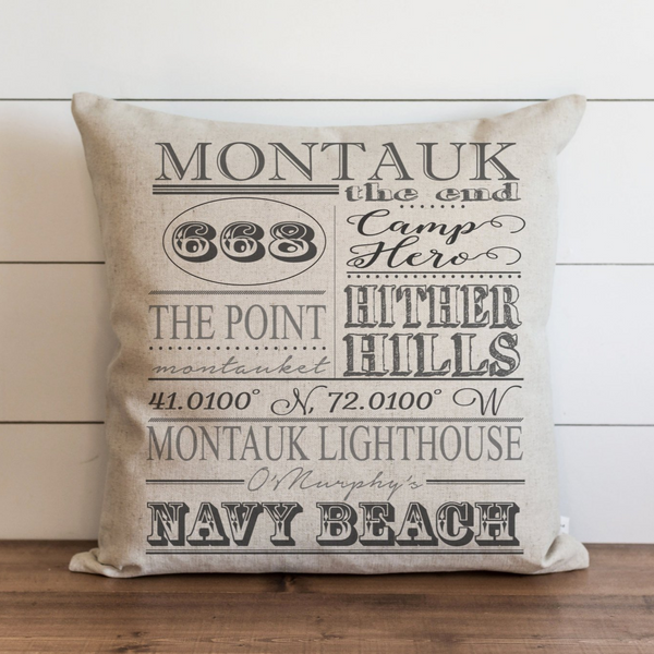 Personalized Location Collage Pillow Cover. - Porter Lane Home