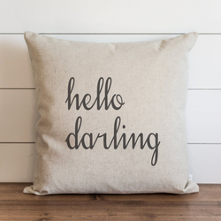 Hello Darling Pillow Cover. - Porter Lane Home