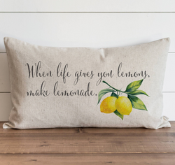 When Life Gives You Lemons Make Lemonade Pillow Cover. - Porter Lane Home
