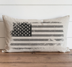 Distressed US Flag Pillow Cover. - Porter Lane Home