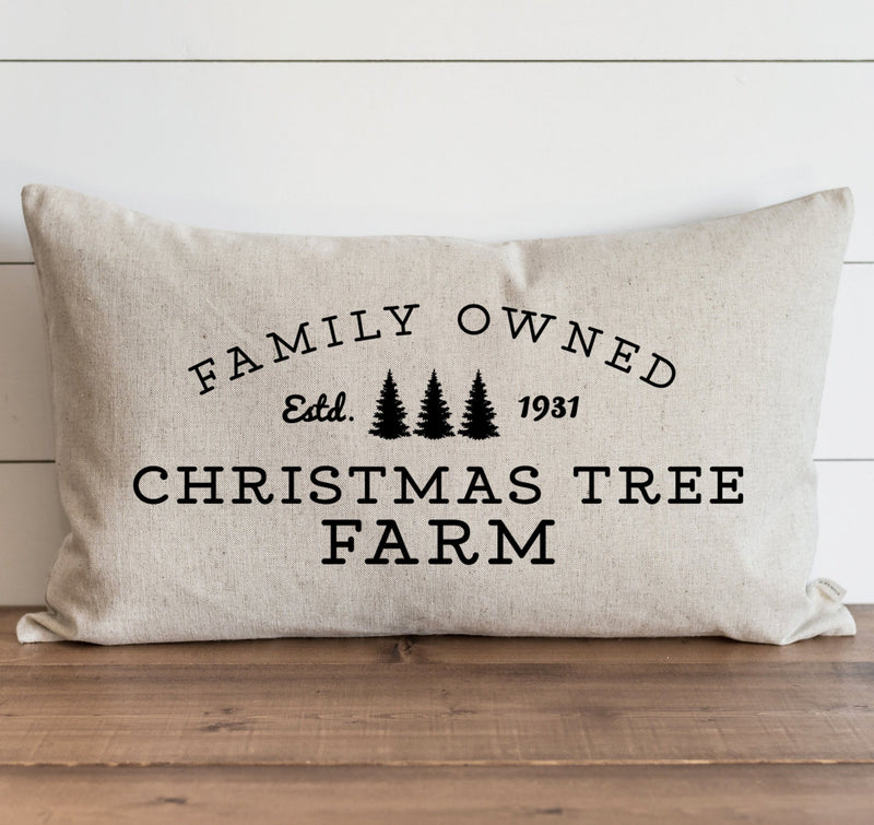 Family Owned Christmas Tree Farm Pillow Cover. - Porter Lane Home