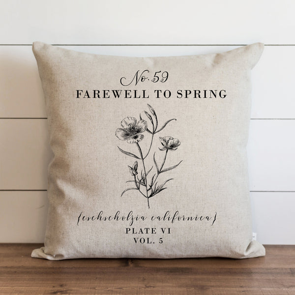 Botanical Farewell To Spring Pillow Cover. - Porter Lane Home