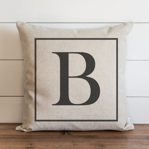 Square Monogram Pillow Cover. - Porter Lane Home