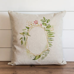 Floral Frame Pillow Cover. - Porter Lane Home