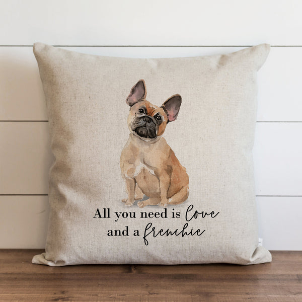 All You Need is Love {Frenchie} Pillow Cover. - Porter Lane Home