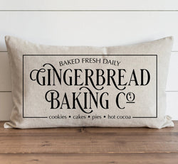 Gingerbread Baking Co. Pillow Cover. - Porter Lane Home