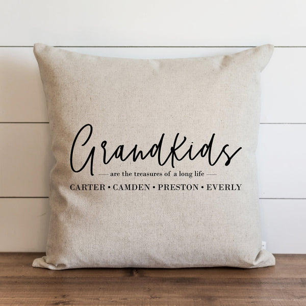 Custom Grandkids Pillow Cover | You choose the names to personalize. - Porter Lane Home