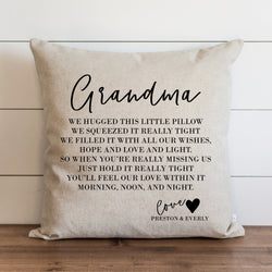 Custom Grandma {or anyone} Pillow Cover | You choose the names to personalize. - Porter Lane Home