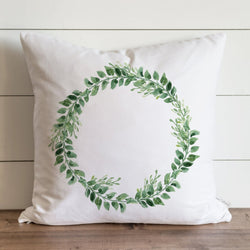 Greenery Wreath Pillow Cover. - Porter Lane Home