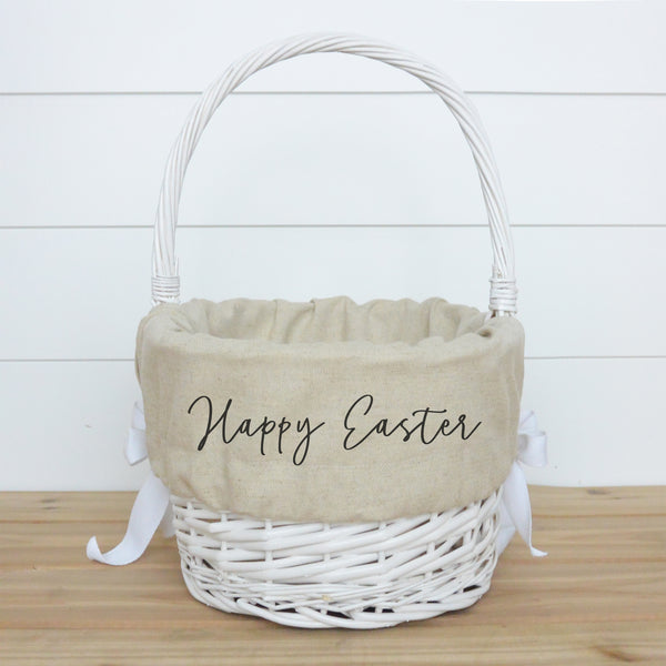 Happy Easter Basket Liner - Porter Lane Home