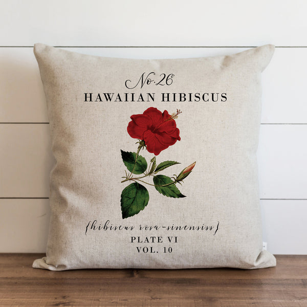 Botanical Hawaiian Hibiscus Pillow Cover. - Porter Lane Home