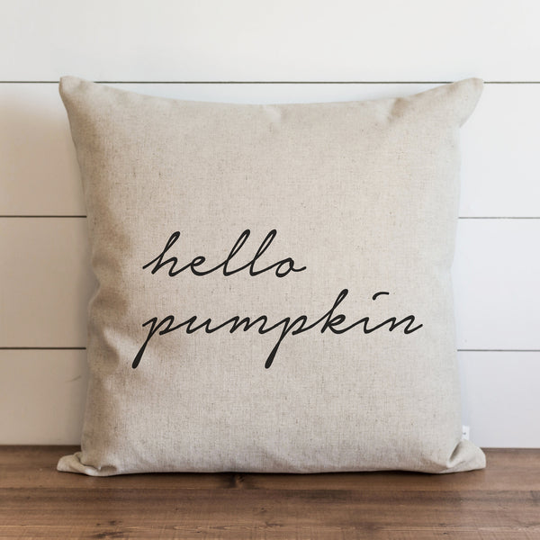 Hello Pumpkin Pillow Cover. - Porter Lane Home