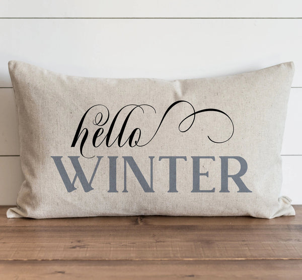 Hello Winter Pillow Cover. - Porter Lane Home