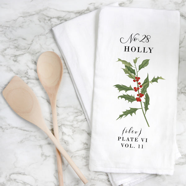 Botanical Holly Tea Towel