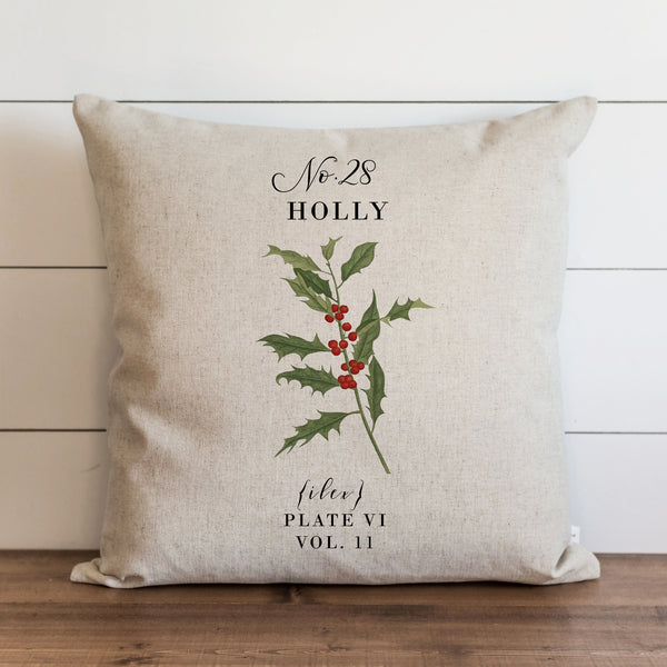 Botanical Holly Pillow Cover. - Porter Lane Home