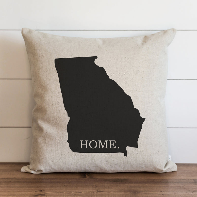 Custom Home State Silhouette Pillow Cover. - Porter Lane Home