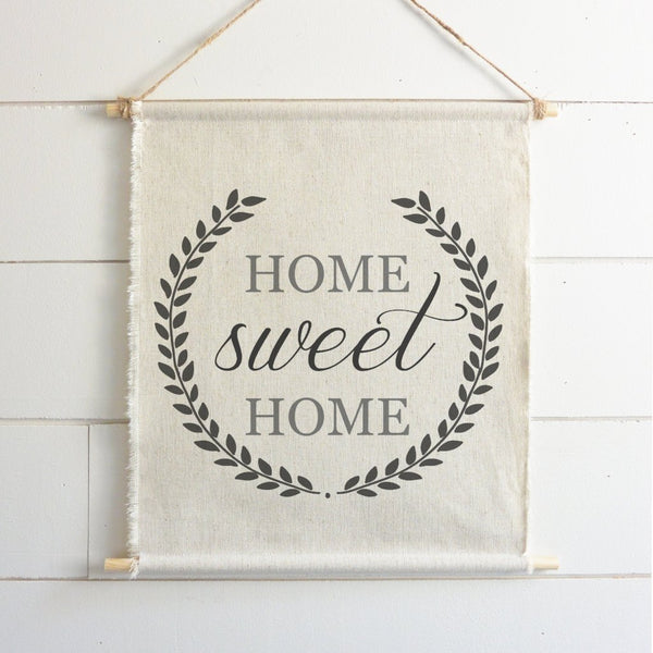 Home Sweet Home Hanging Wall Banner - Porter Lane Home