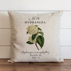 Botanical Hydrangea Pillow Cover. - Porter Lane Home