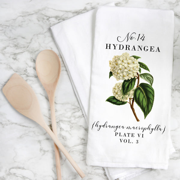 Botanical Hydrangea Tea Towel - Porter Lane Home