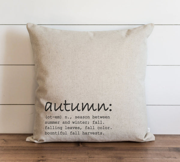 Autumn Definition Pillow Cover - Porter Lane Home