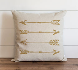 Arrows_Gold Pillow Cover. - Porter Lane Home