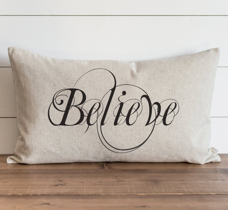 Believe Pillow Cover. - Porter Lane Home
