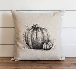 Pumpkin Sketch Pillow Cover - Porter Lane Home