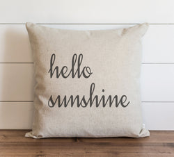 Hello Sunshine Pillow Cover. - Porter Lane Home