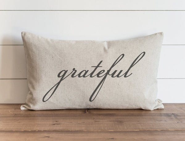Grateful 16 x 26 Pillow Cover // Fall // Autumn // Thanksgiving // Throw Pillow // Gift for Her // Accent Pillow - Porter Lane Home