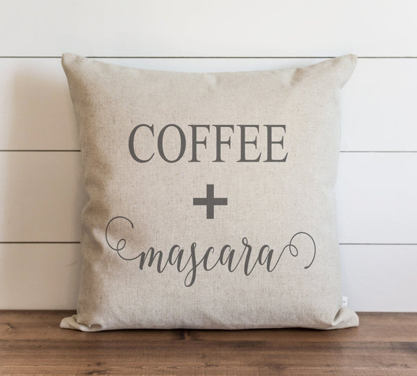 Coffee + Mascara 20 x 20 Pillow Cover // Everyday // Throw Pillow // Gift // Accent Pillow // Cushion Cover - Porter Lane Home