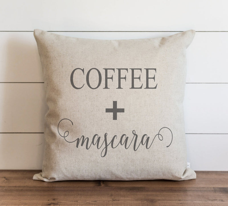 Coffee + Mascara Pillow Cover. - Porter Lane Home