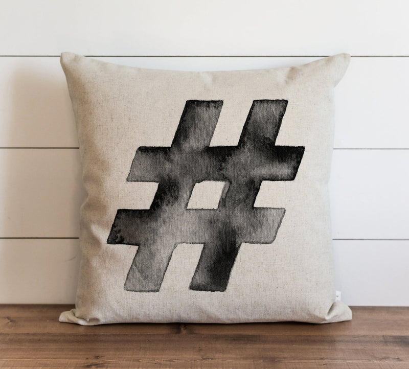 Hashtag Pillow Cover. - Porter Lane Home