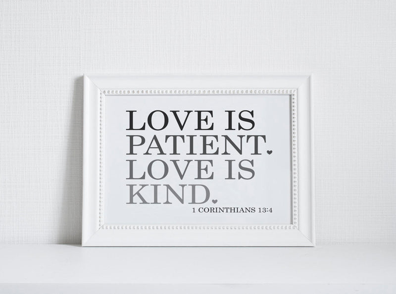 Love is Patient Wall Art // Inspiration // 1 Corinthians // Wall Decor // Signs // Art // Hanging - Porter Lane Home