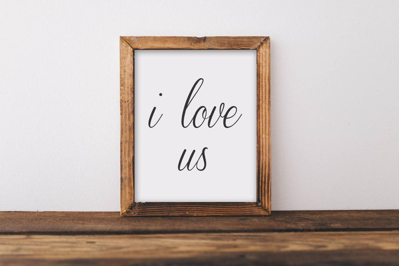 I Love Us Wall Art // Wall Decor // Signs // Art // Hanging - Porter Lane Home