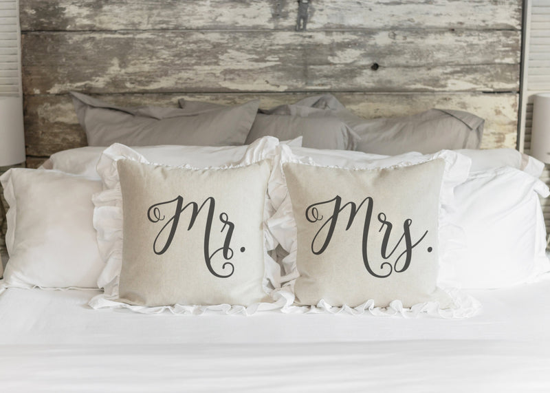 Mr. and Mrs. Pillow Cover. - Porter Lane Home