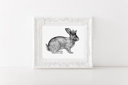 Easter Decor // Spring Decor // Easter Bunny // Wall Art // Signs // Wall Decor // Watercolor Print // Hanging // Gift // BUNNY WALL ART - Porter Lane Home