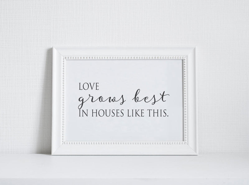 Love Grows Wall Art // Inspiration // Little Houses // Wall Decor // Signs // Art // Hanging - Porter Lane Home