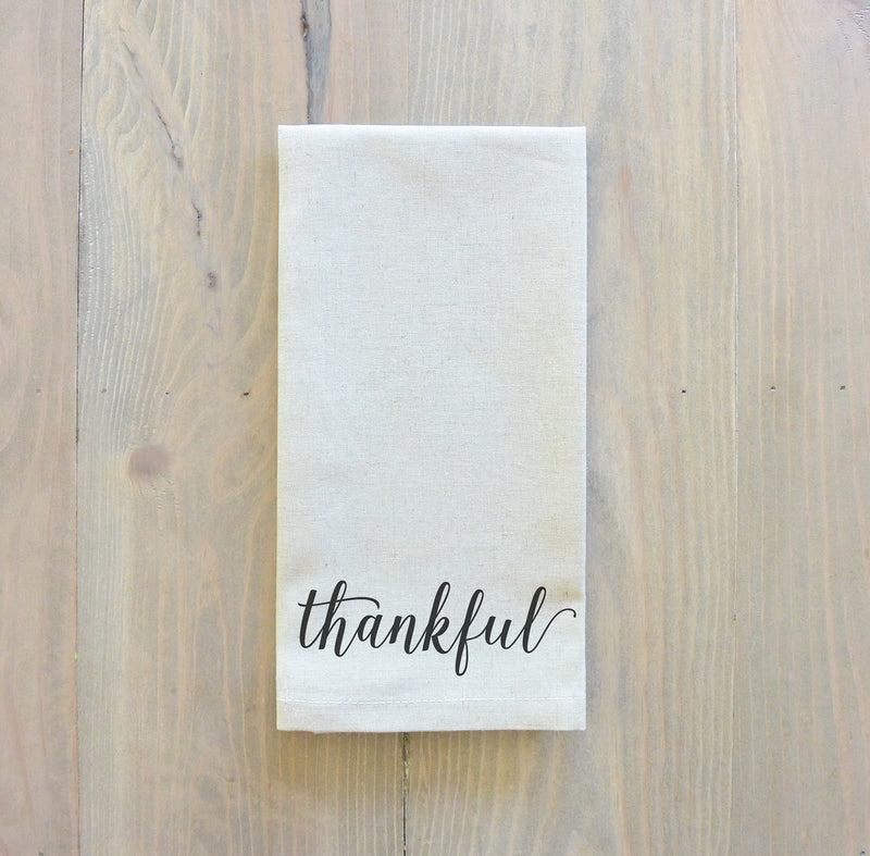 Thankful Napkin_table setting, tableware, place setting, housewarming gift, party, dinner, event, thanksgiving, fall