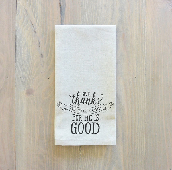 Give Thanks To The Lord Napkin - Porter Lane Home
