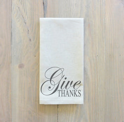 Give Thanks Napkin - Porter Lane Home