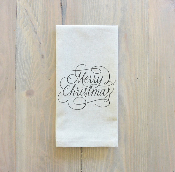 Merry Christmas Script Napkin - Porter Lane Home