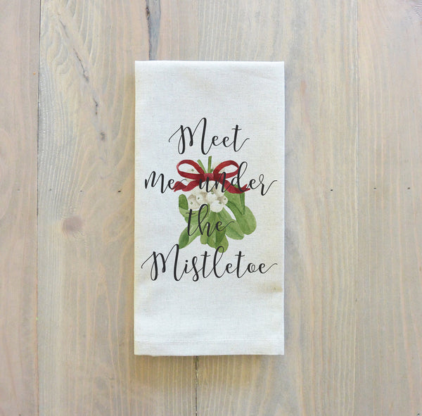 Meet Me Under The Mistletoe Napkin - Porter Lane Home