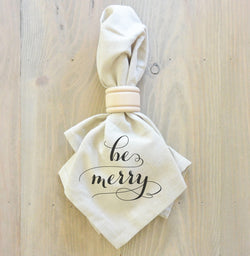 Be Merry Napkin (Style 2) - Porter Lane Home