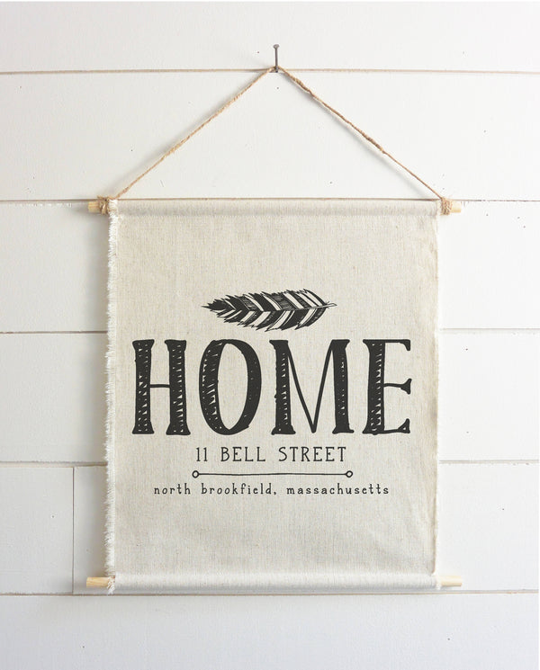 Custom Personalized Home Hanging Wall Banner - Porter Lane Home